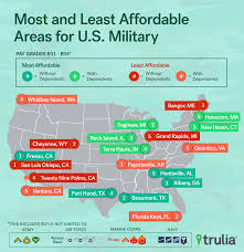 most affordable places to rent where housing is least and most affordable for military families