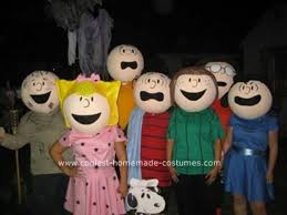 Snoopy Halloween Costume Kids Coolest Homemade Peanuts Cartoon Costumes Awesome Group Costume