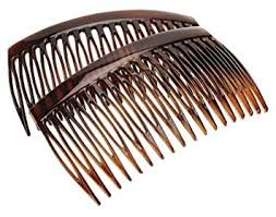 decorative hair combs luxe 18 tooth side comb pair tortoise