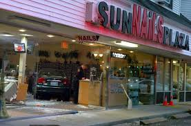 car smashes into milford nail salon eight injured connecticut post