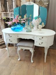 shabby chic french style dressing table with stool u2013 eclectivo