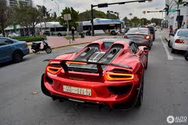 Porsche 918 Gta 5 - porsche 918 spyder in chrome red makes it presence felt at miami