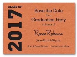 Save The Date Cards Shimmery Orange Graduation Save The Date Cards