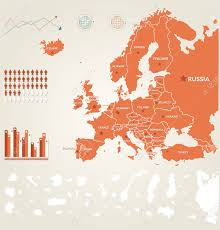 Germany Europe Map by Infographic Illustration With Map Of Europe Royalty Free Cliparts