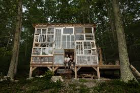 Cool Cabin Cozy Mountain Cabin Built From Repurposed Windows Costs Just 500