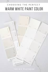 what is the best benjamin white paint for kitchen cabinets choosing the warm white paint color the diy playbook