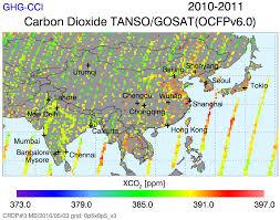 Iup Map Image Gallery Carbon Dioxide Esa Ghg Cci Website