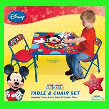 mickey mouse kids table disney kids and teens play tables chairs ebay