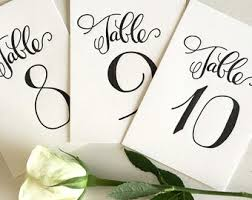 what size are table number cards wedding table numbers etsy nz