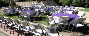 party rentals san fernando valley tables chairs plastic wood chairs rectangular and