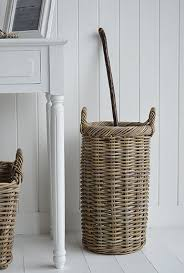Home Decor For Your Style Basket Grey Umbrella Stand For Hallway Storage New England