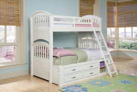 White Wooden Bunk Bed Storage Bed White Bunk Beds With Storage Drawers White Wooden