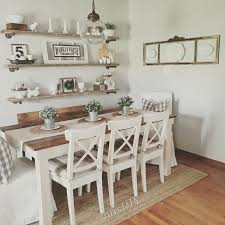 Shabby Chic White Dining Table by Best 20 Shabby Chic Wall Decor Ideas On Pinterest Shutter Decor