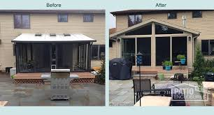 Four Seasons Sunroom Shades Before U0026 After Sunroom Pictures Patio Enclosures Projects