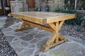 chunky wood table legs ana white build a chunky x base table featuring killer b designs