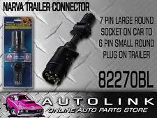 narva trailer plug 6 pin small round metal 82132bl ebay