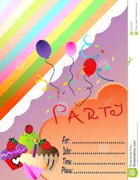 Birthday Invitation Cards Free Birthday Invitation Card With Cakes Royalty Free Stock Photos