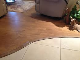 laminate flooring transitions to tile