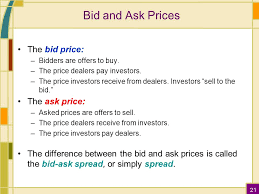 bid ask price 5 the stock market ppt