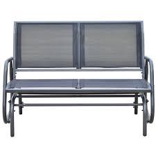 Antique Metal Porch Glider Furniture Metal Porch Loveseat Glider For Outdoor Bench Ideas