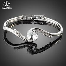 white gold crystal bracelet images White gold stellux austrian crystal bangle bracelet looker gifts jpg