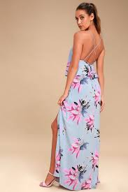 light blue floral maxi dress o neill milly blue maxi dress floral print dress