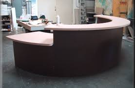 Circular Reception Desk Alluring Images Reception Desk For Small Area Exceptional Stand Up