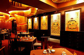 enchanting modern oriental chinese style restaurant interior with
