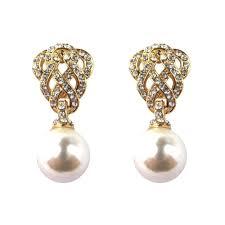 gold earrings for wedding antique heirloom pearl drop gold earrings vintage wedding jewellery