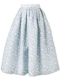 house of holland heart jacquard midi skirt blue women clothing