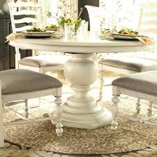 white expandable pedestal dining table extendable 42 black double