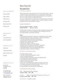 Personal Assistant Resume Sample Receptionist Resume Templates 22 Resume Examples For Medical