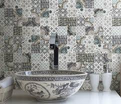spanish style tile backsplash backyard decorations by bodog