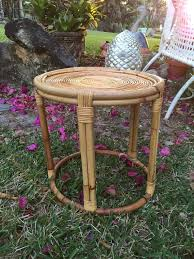 Rattan Accent Table Stylish Rattan Accent Table Vintage Bamboo And Rattan End