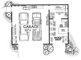 garage floor plans free woodshop garage combo hwbdo08032 house plan from