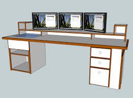 A Computer Desk Build A Computer Desk Plans Design Decoration