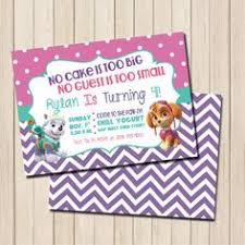 paw patrol invitation bring your paw patrol party to
