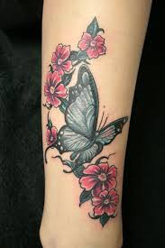 of wonderful butterfly and cherry blossom on tf