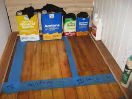 testing hardwood floor finishes in the closet building moxie