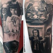 40 pulp fiction tattoo designs for men movie ink ideas