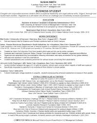 College Freshman Resume Examples by Appealing Free Student Resume Examples College Student Resume
