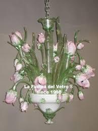 lade di vetro ladari classici floreali in vetro di murano