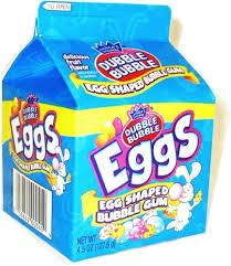 easter egg gum dubble gum eggs 4oz candy grocery