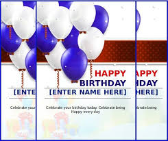 word birthday card template 10 ms word format birthday templates