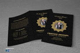 Elegant Funeral Programs Black Funeral Program Template Elegant Funeral Program