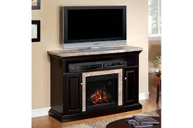 Granite Laminate Flooring Furniture Rectangle Black Wooden Tv Stand With Fireplace And
