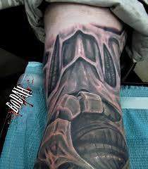 biomechanical tattoo for knee tattoos by bodah