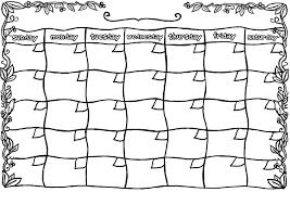 free blank templates to print calendar template