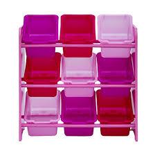 meuble de rangement chambre fille meuble enfant fille étagère décoration 9 bacs rangement