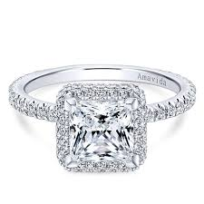 engagement rings cut images 18k white gold princess cut double halo diamond engagement ring jpg
